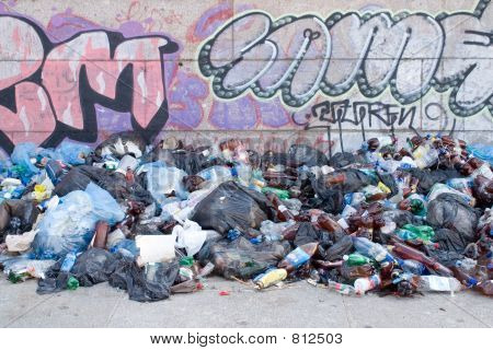 Rubbish and graffiti