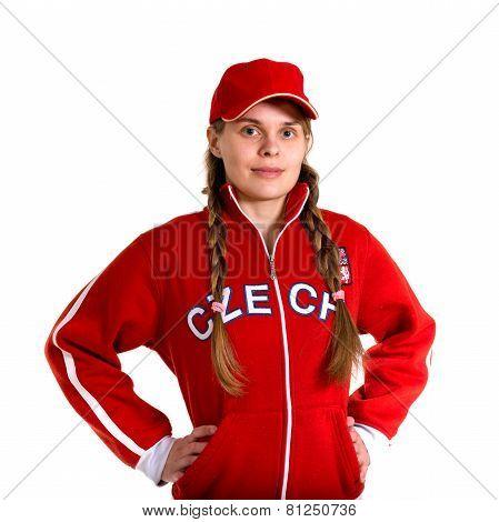 Sports Fan In National Jersey