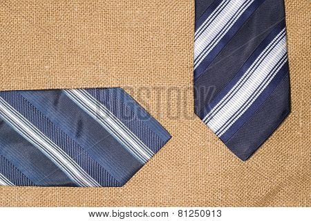 Beautiful Blue Ties On The Old Sacking