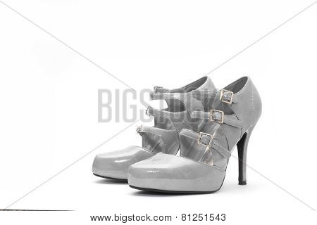 Womens High Heels On White Background