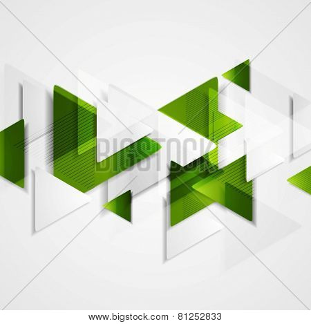 Hi-tech abstract green background. Vector design