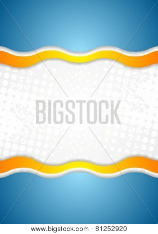 Abstract corporate wavy grunge background. Vector design