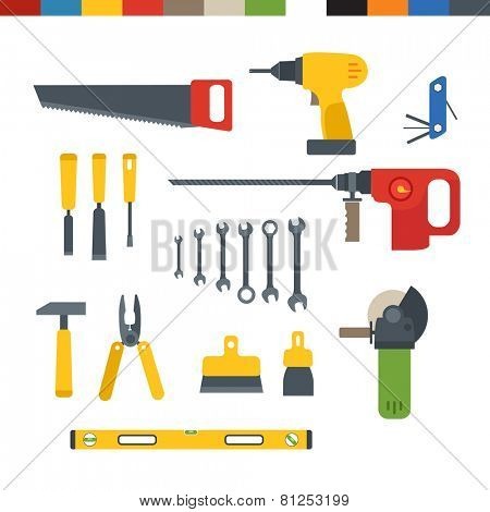 Different tools flat collection