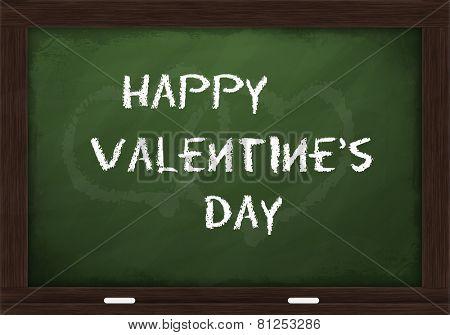 Happy Valentine's day on chalkboard