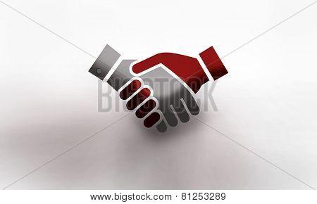 Handshake with sketch background