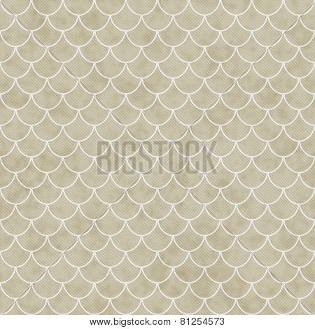 Beige And White Shell Tiles Pattern Repeat Background