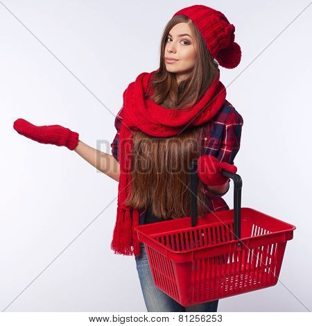 Winter shopping concept