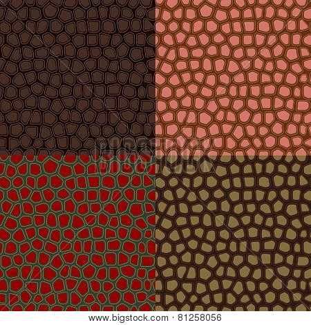 Abstract Seamless Backgrounds Of The Skin