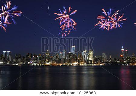 Midtown Manhattan Fireworks