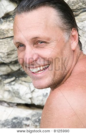 Smiling man in his forties