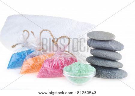 Salt For  Bath, Towel And Stones