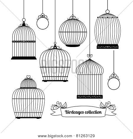 Birdcages silhouettes