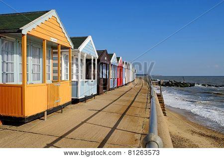 Beach Huts Southwold, Suffolk, England.