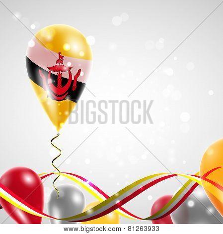 Flag of Brunei on balloon