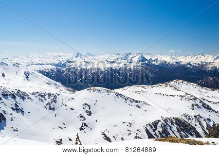 Ski Resort In The Italian Alps