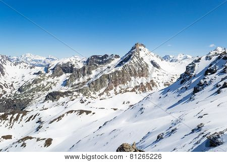 Mountain Peaks In The Alps