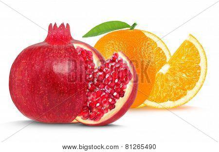 pomegranate and orange