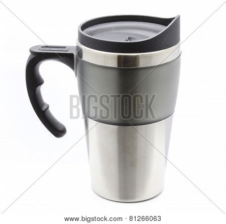 Steel Thermos Mug With Handle For Hot Drinks