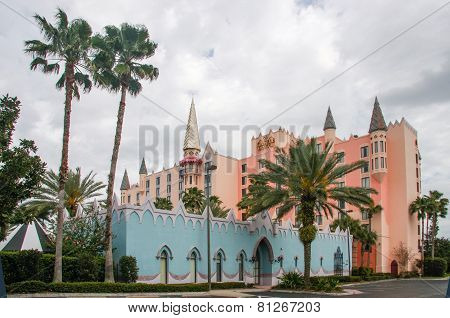 Orlando, Fl, Usa - March 10, 2008: Castle Hotel On International Drive In Orlando, Usa On March 10,