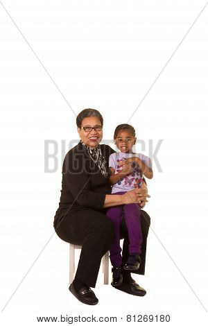 A grandmother and her granddaughter