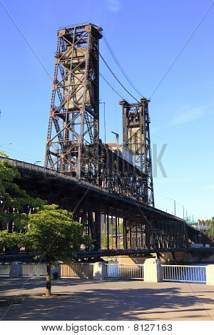 Steel bridge & park, Portland OR.