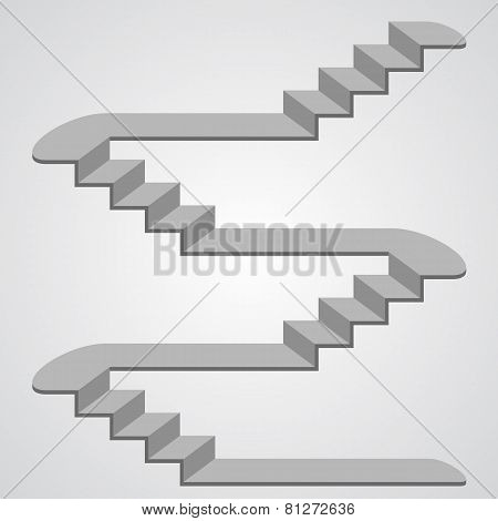 Staircase 3d. Vector