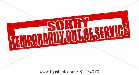 Sorry Temporarily Out Of Service