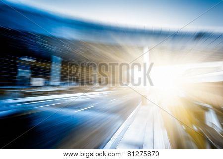rapid city traffic,motion cars.