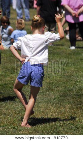 scottish dancing girl
