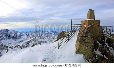 viewpoint in Tatra Mountains. Lomnisky Stit, Slovakia