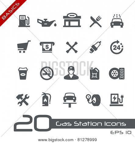 Gas Station Icons // Basics