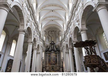 Interiors of Saint Walburga Church, Bruges, Belgique,