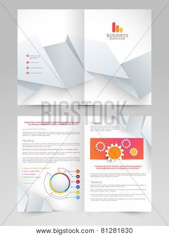 Professional business 2 page brochure, catalog or flyer design for your presentation.