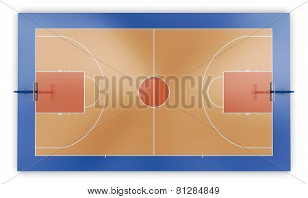 Basketball Court Top View
