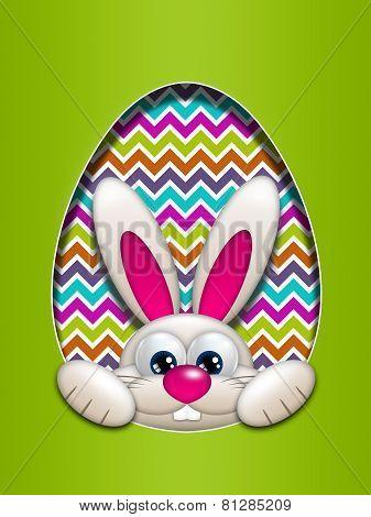 Easter Bunny Hidden In Egg Hollow