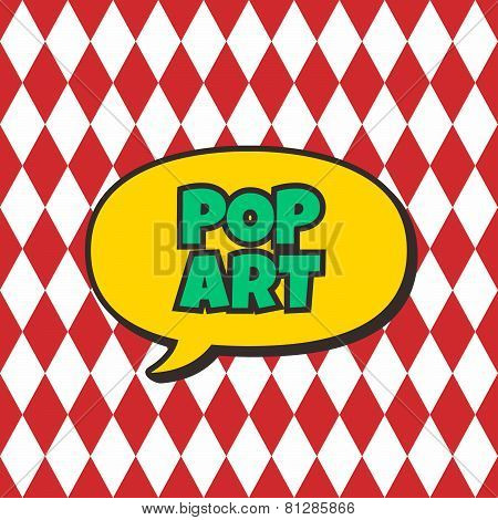 pop art retro theme