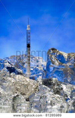 Frozen Hypodermic Syringe