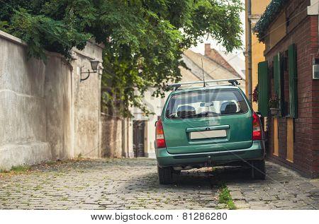 Szentendre, Hungary, A Green Machine At Street