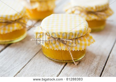 Orange Marmalade On White Table
