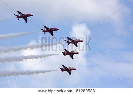 Red arrows flight team.