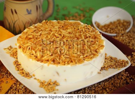Cake dessert pie nutty