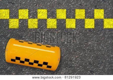 Taxi Sign On The Road