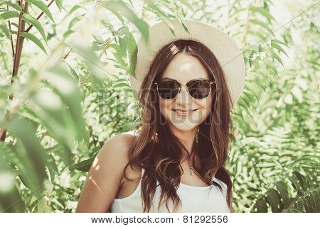 Beautiful Young Woman In Stylish Hat