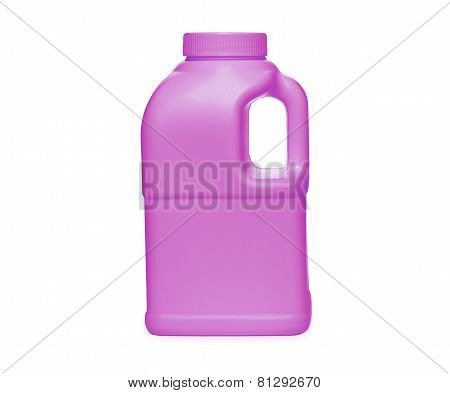 Pink plastic jerry can