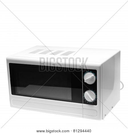 microwave oven is isolated on white background