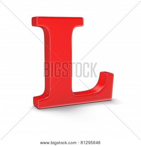 Letter L (clipping path included)