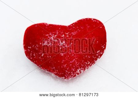 Red Plush Heart As A Symbol Of Love Valentine's Name