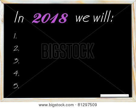 In 2018 We Will