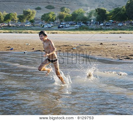 Swimming In Lake Kinneret