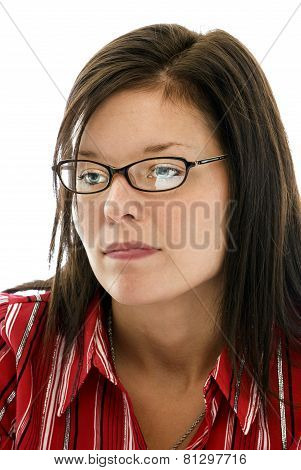Attractive Young Woman In Deep Thought
